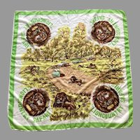 1950's Lion Country Safari Souvenir Scarf Great Graphics