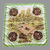 1950's Lion Country Safari Souvenir Scarf Great Graphics