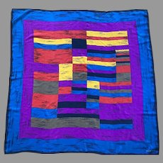 Elaine Gold Silk Square Scarf Very Rich Colors