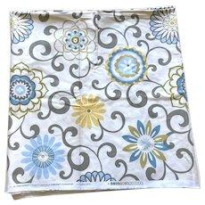 Vintage Waverly Screen Print Fabric Pom Pom Play 3 Yards