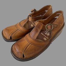 Vintage Never Worn 1960's QualiCraft Town & Country Leather Shoes Made In Brazil Size 7B