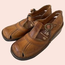 REDUCED Vintage Never Worn 1960's QualiCraft Town & Country Leather Shoes Made In Brazil Size 7B