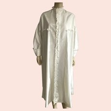 Victorian Night Shirt/Nightgown With Pin-Tucks and Lace Details Large Size