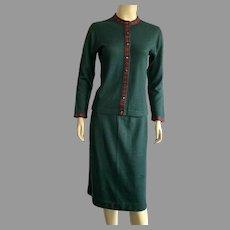 Vintage 1950's 60's Jantzen Skirt & Sweater Suit