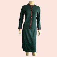 REDUCED Vintage 1950's 60's Jantzen Skirt & Sweater Suit
