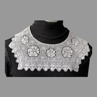 Vintage White Lace Square Neck Collar