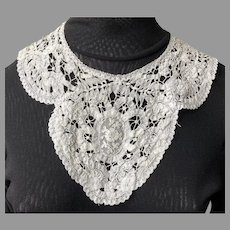Vintage Battenberg Lace Collar