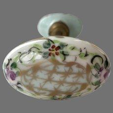 Antique Hand Painted Porcelain Door Knobs