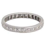 Art Deco .42ct Diamond Platinum Eternity Ring