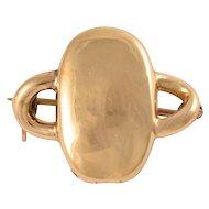 Victorian 15k Gold Bramah Key Brooch