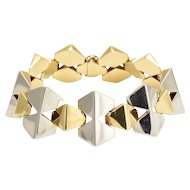 1930s Art Deco Two-Tone Gold Geometric Bracelet