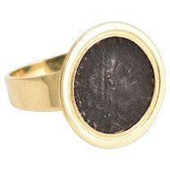 Ancient Roman Siliqua Coin Signet Ring