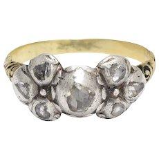 17th Century Diamond Bow Ring