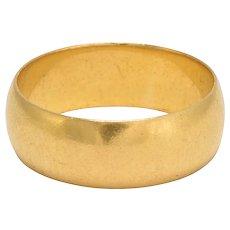 Antique Edwardian 22k Gold Wedding Band