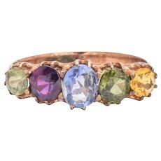 Victorian Harlequin 5-Stone Ring