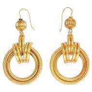 Vintage 1970s Gold Hoop Earrings