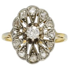 Antique Edwardian Diamond Star Cluster Ring
