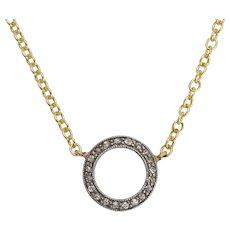 Art Deco Diamond Millegrain Halo Necklace