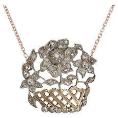 Antique Georgian Diamond Giardinetti Necklace