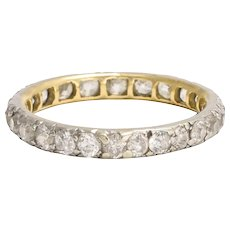 Antique Early Victorian 1.25ct Diamond Eternity Ring