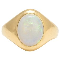 Victorian Opal Signet Ring