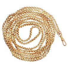 Victorian 15 Karat Gold Guard Chain, 64""
