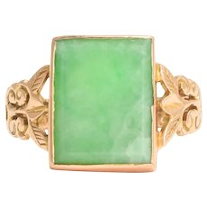 Late Victorian Jade Panel Ring