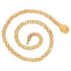 Georgian 15k Gold Star-Link Chain