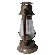 Vintage Tubular Lantern C T Ham Mfg No. 2 Glass air Tin tubes oil barn kerosene