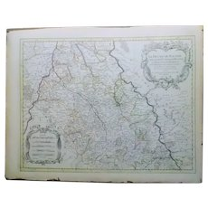 Antique map Sanson Germany France Europe 17th/ 18th cent Rhine Jaillot Maas Rare