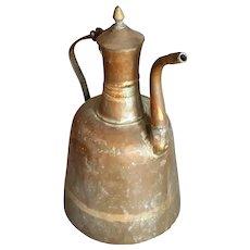 Antique Copper Large Teapot Middle East Ethnic Tribal Kettle metal Tea Pot