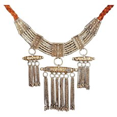 Antique Yemenite  Amulet box Necklace