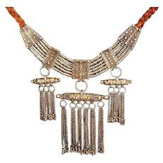 Antique Yemenite  Amulet box Necklace