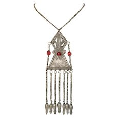 Old Islamic Pendant Turkmenistan Tribal Kuchi Necklace