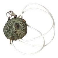 Antique Byzantine coin Pendant Necklace