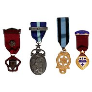Masonic Steward Medal Freemason 1957,David Star,Homanitas,cheshire lot of 4