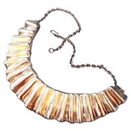 Vintage Designer Electroforming Sterling silver 925 Pendant Necklace.