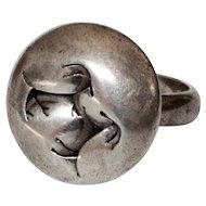 Vintage Native American Kokopel Ring Sterling Silver Signed