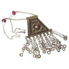 Vintage Kuchi Afghan Pendant Necklace