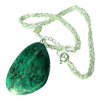 Vintage Elat Stone silver Necklace