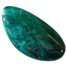 Healing Elat stone Vintage 70's Polished green blue