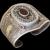 Vintage Ethnic Sterling Silver Bracelet black Onyx stone twisted rope ornament