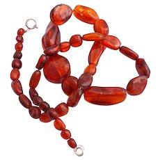 Vintage Modernist Faturan Burgundy red Beaded Necklace
