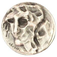 Vintage Italy Fassion Designer Brutalist Medal