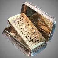 Solid Silver Vinaigrette. Joseph Wilmore Birmingham 1833