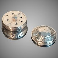 Extremely Rare. Solid silver vinaigrette. Kingdom of Sardinia late 1700s.