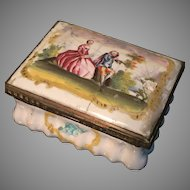 Enamel Box. French or English late 1700s or early 1800s. Battersea Bilston Samson