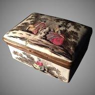 Antique Enamel Box. c 1730-1750. Germany. Probably Dresden