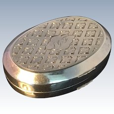 Solid silver Pill Box. Holland c 1860