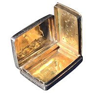 Antique solid silver Vinaigrette. Edward Smith 1843